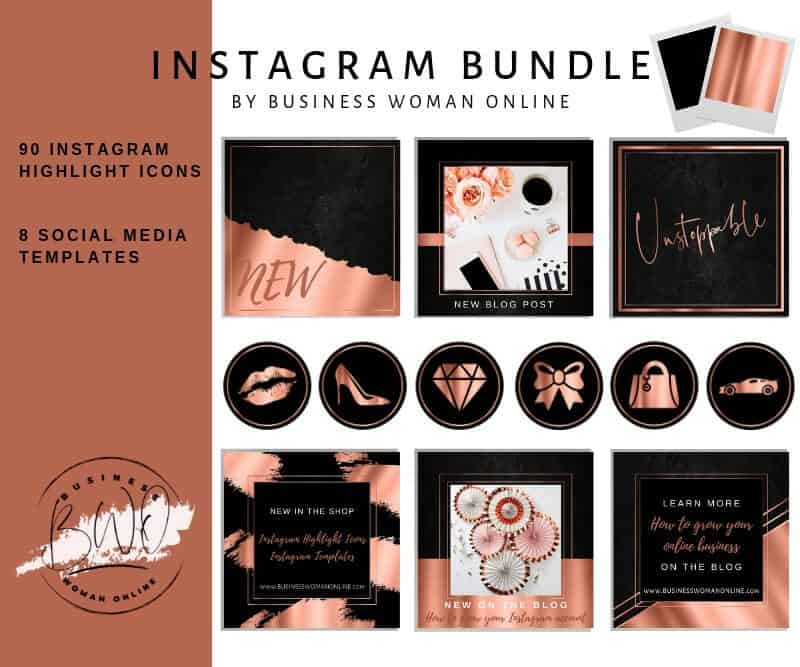Instagram Highlight Icons Black