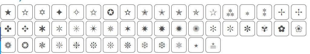 Test symbols Instagram caption