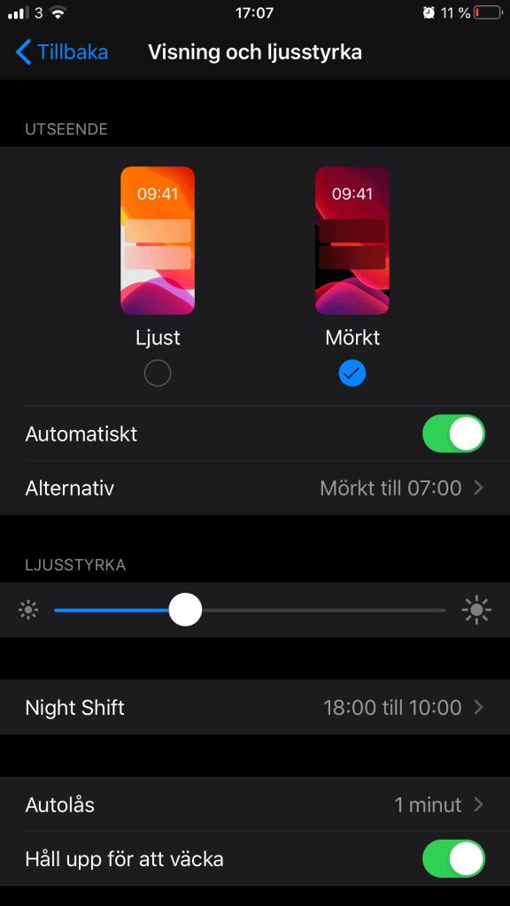 Instagram Dark Mode on iPhone
