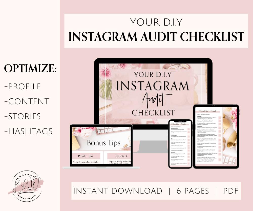 Instagram Audit Checklist Planner