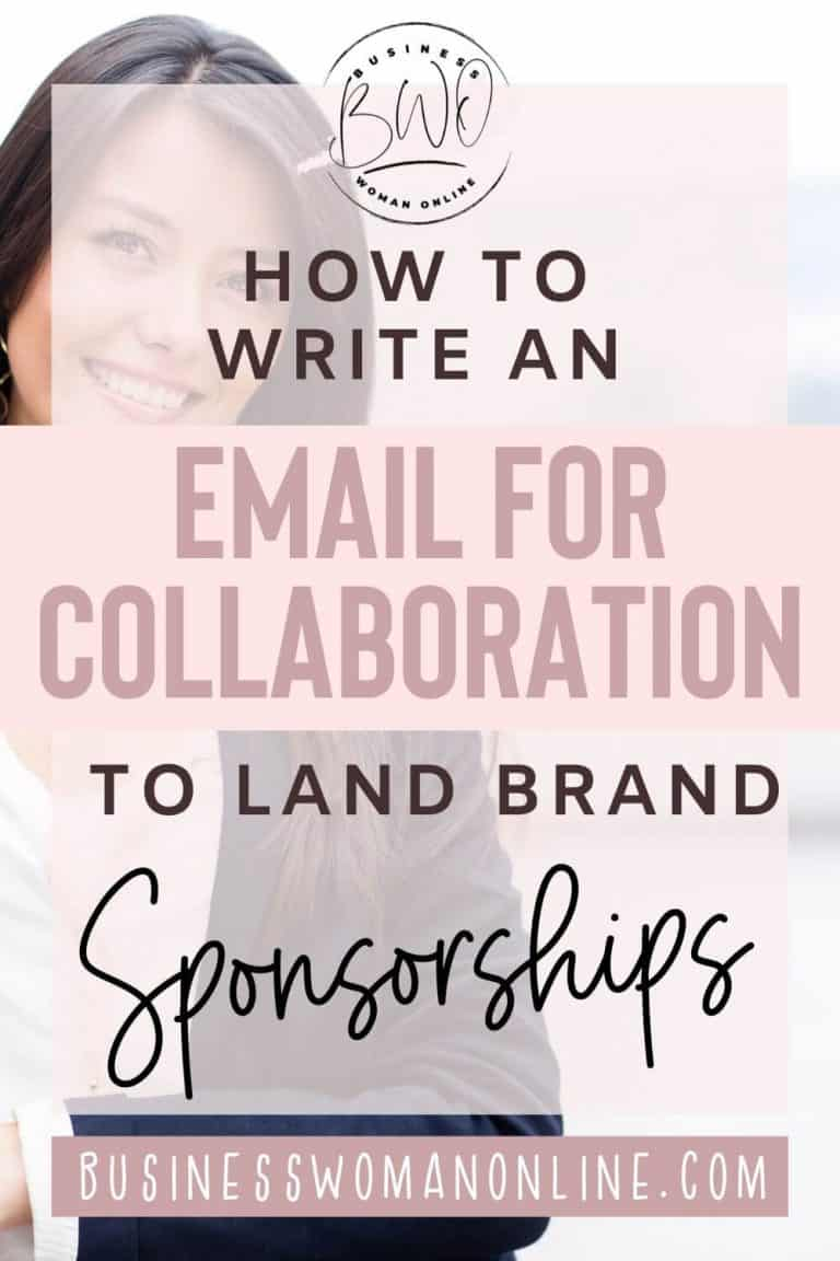 Email for Collaboration to Successfully Land Brand Sponsorships